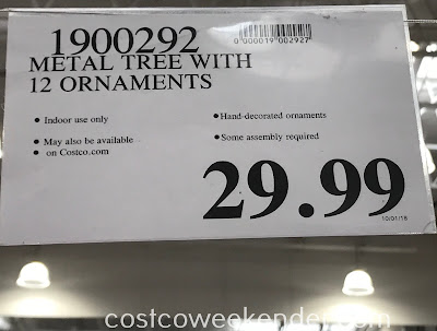 Deal for the Metal Tree with 12 Ornaments at Costco