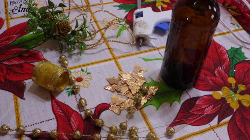 Florero navideño y Receta de Champurrado