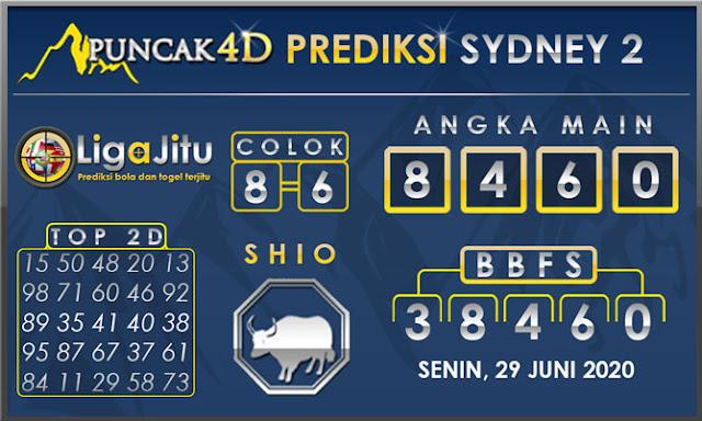 PREDIKSI TOGEL SYDNEY2 PUNCAK4D 29 JUNI 2020