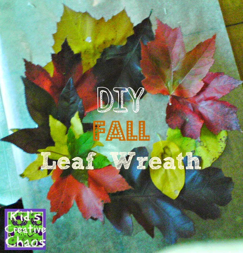 Fun Fall Leaf Wreath Tutorial with Real Leaves.
