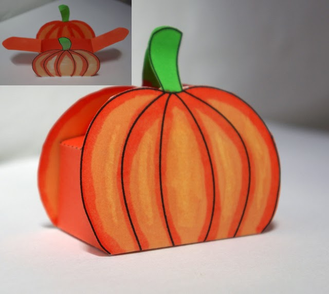 Pumpkin Box Template.