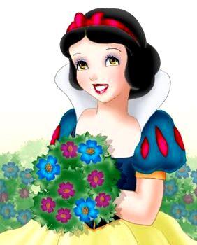 Dibujo de Blancanieves con una linda sonrisa