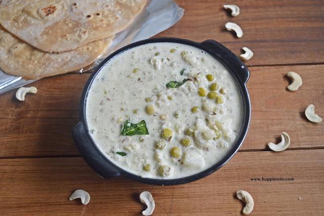 Green Peas White Kurma | Restaurant style Patani Vellai Kurma