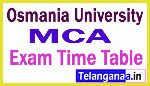 Osmania University MCA Exam Time Table