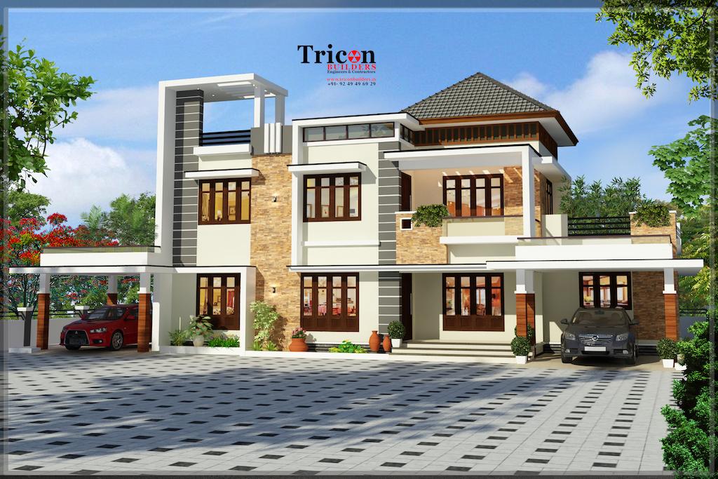 3133 Sqft 4 Bedroom Budget Villa