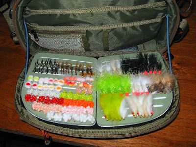 Blue River chest pack fly bench