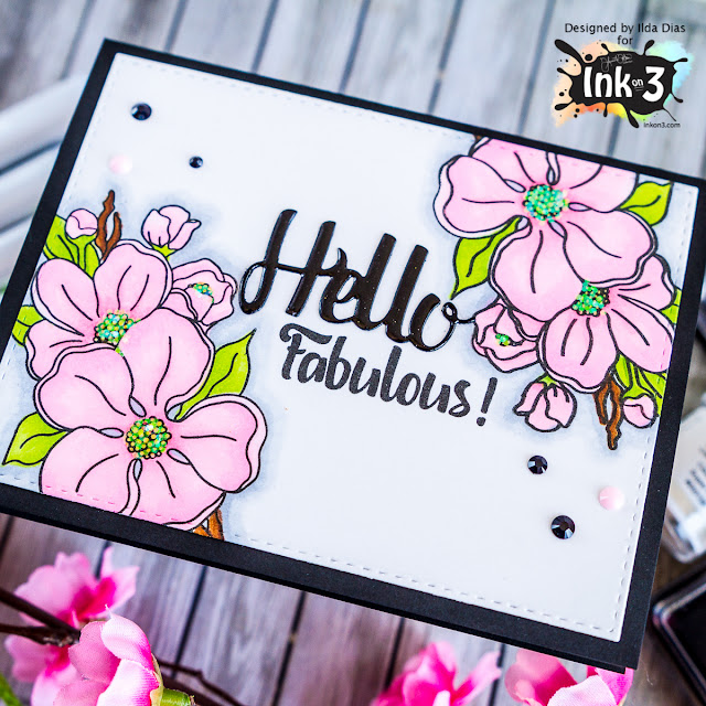 Hello Fabulous - Ink on 3's Dogwood Flower Preview by ilovedoingallthingscrafty