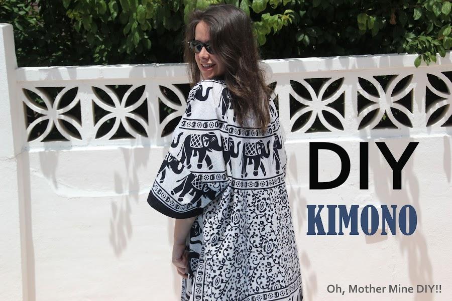 Kimono DIY, tutorial y patrones gratis