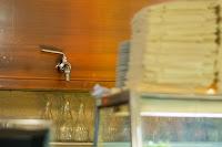 Spigot for vino sfuso in Ristorante Da Dante in Rome, Italy