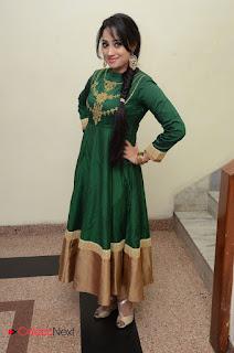 Actress Ashvini Pictures in Green Salwar Kameez Madha Gaja Raja Audio Launch  0061