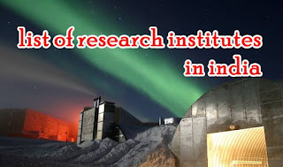 list of research institutes in india
