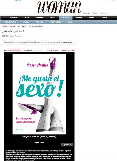 "WOMAN / Madame Figaro   Recomendación de ""¡Me gusta el sexo!"" de Roser Amills"