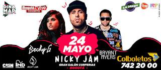 Concierto de NICKY JAM – Becky G – Bryant Myers en Bogotá
