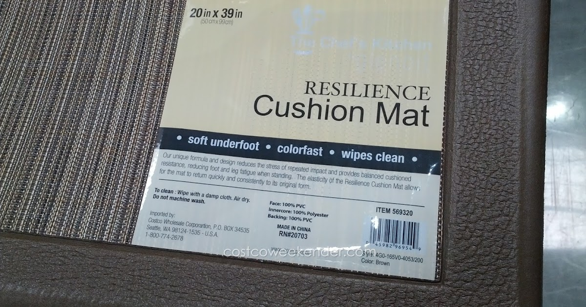 The Chef S Kitchen Resilience Cushion Mat Costco Weekender