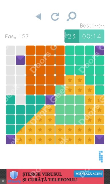 Cheats, Walkthrough for Blocks and Shapes Level 157