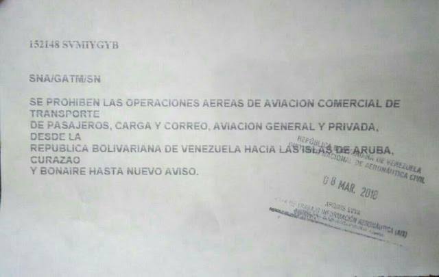 Venezuela recrudece bloqueo comercial hacia Aruba, Curazao y Bonaire