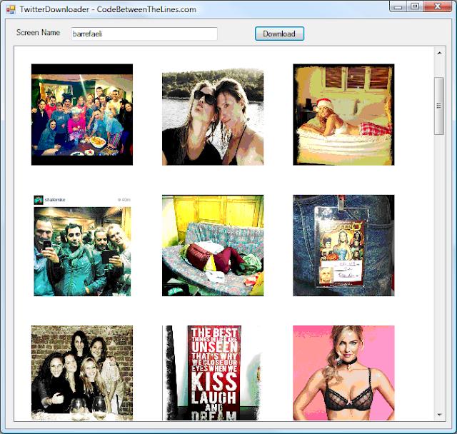 Twitter image Downloader - CodePlex Archive