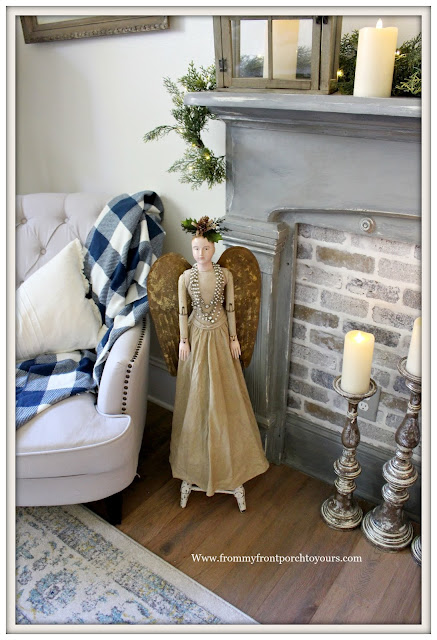 French Country-French Farmhouse-Christmas-Bedroom-Santos-Cage-Doll-From My From Porch To Yours