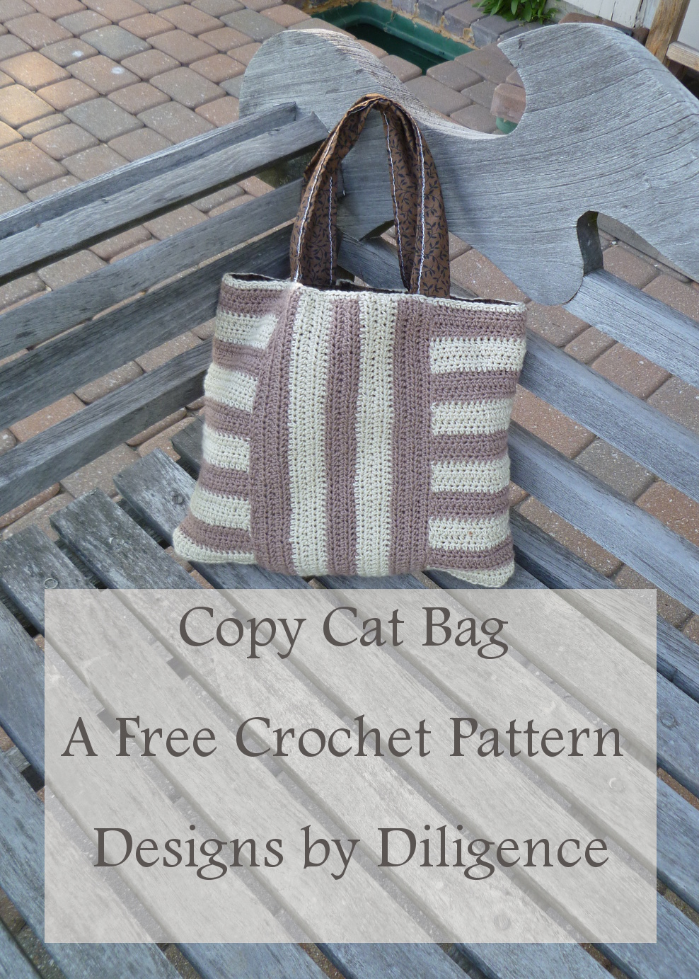 Designs by Diligence: Copycat Striped Bag