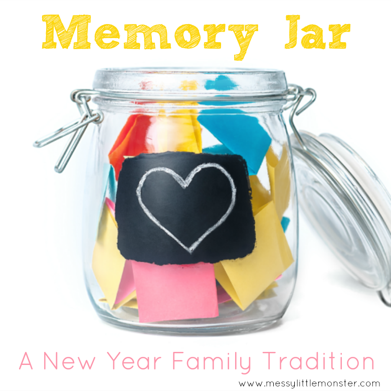 How to make a New Years memory jar or time capsule and create a new family tradition.