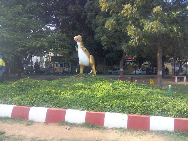 Dinosaur and Monkey Art at Childrens Park Madiwala