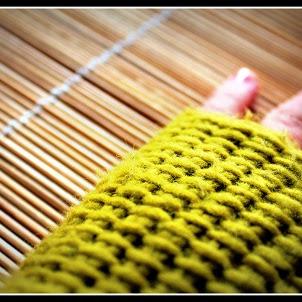 Guantes sin Dedos (Mitones) a Crochet - Punto Tunecino