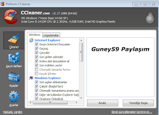 CCleaner 3.17.1689 TR x86 x64