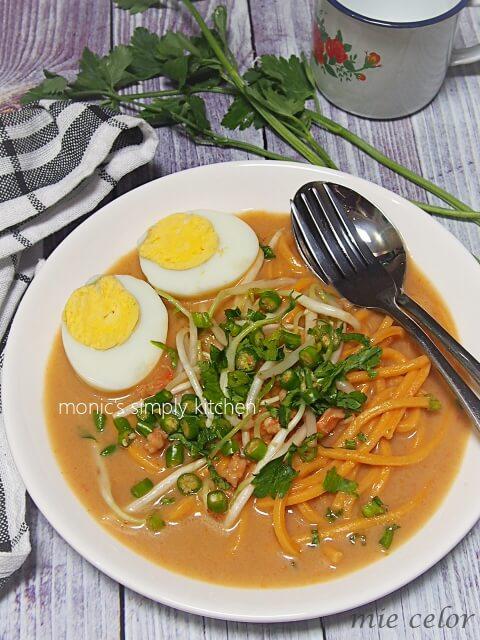 resep mie celor palembang