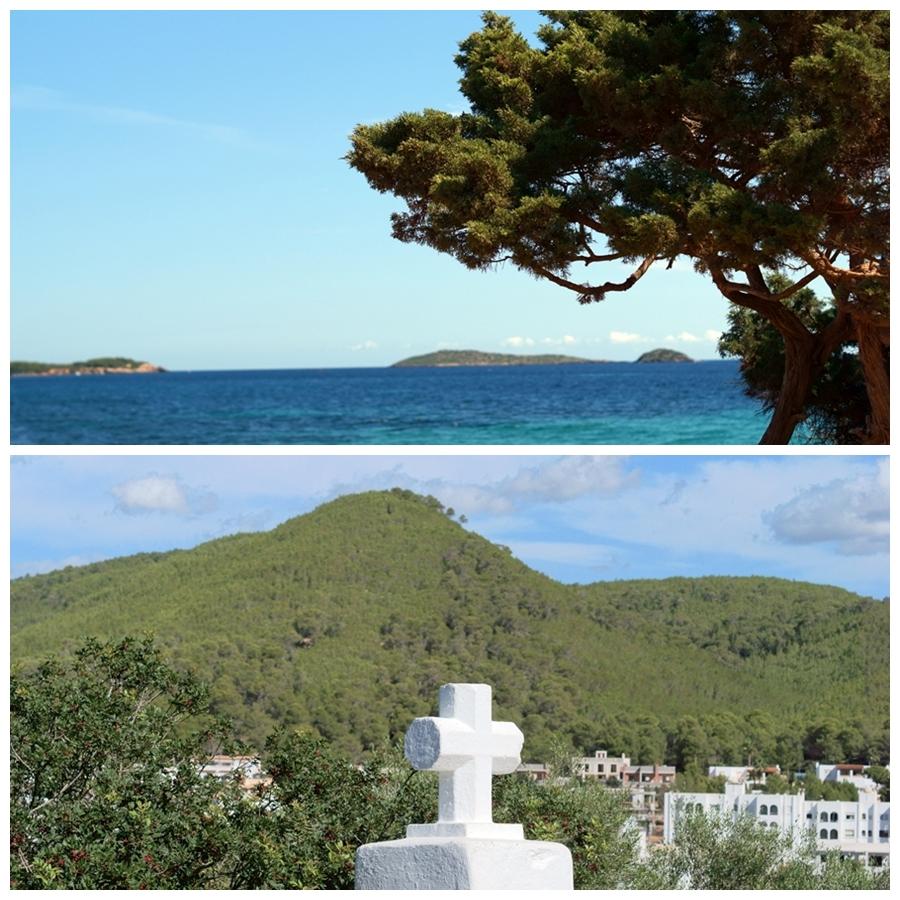 Blog + Fotografie by it's me! - Reisen - La Isla Blanca Ibiza, Santa Eurlaria - Blick über Berge und Buchten