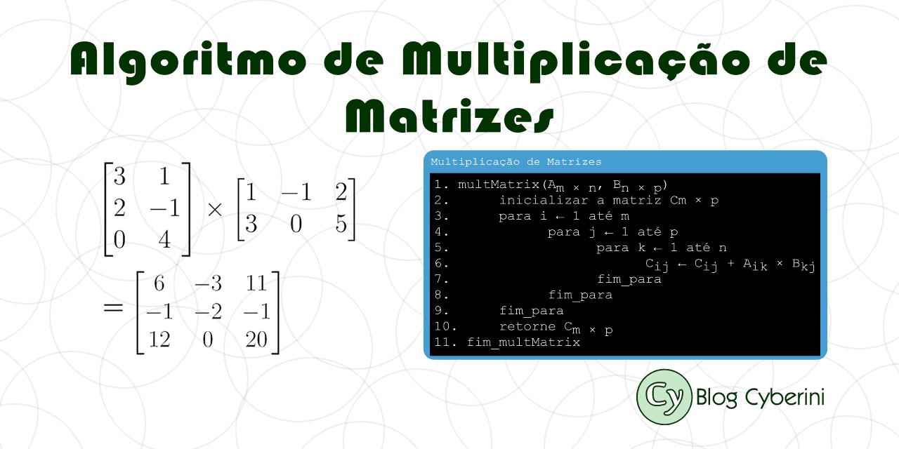 Algoritmo Clássico de Multiplicação de Matrizes