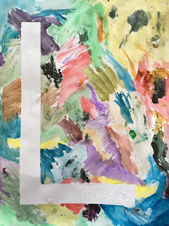 Toddler Fun: watercolor resist art