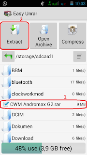 Cara Install CWM Andromax G2 dengan Recovery Bawaan (AD681H)