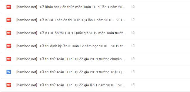 Bộ 8 đề thi thử Toán THPT Quốc Gia 2019 hay nhất (P1)