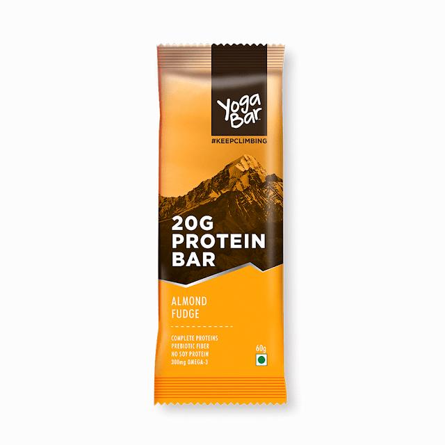 Almond Fudge, protein bar by Yoga Bars