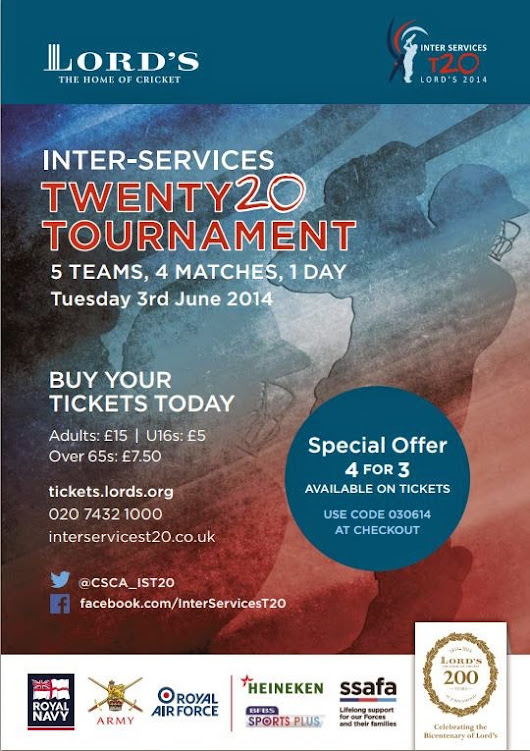 PRESTON and WEETON HIVE: Inter-Services Twenty20 Tournament - LORD'S - 3rd July