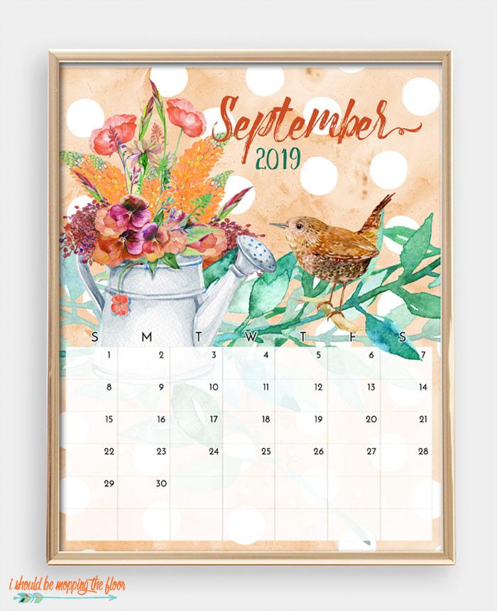 September Bird Calendar