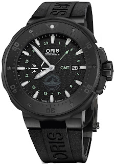 ORIS Pro Diver Force Recon GMT Black Dial Black Rubber Men's 01 747 7715 7754-Set