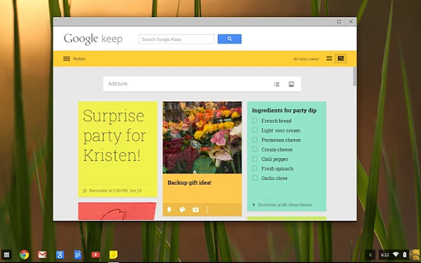 Google Keep - Chrome OS