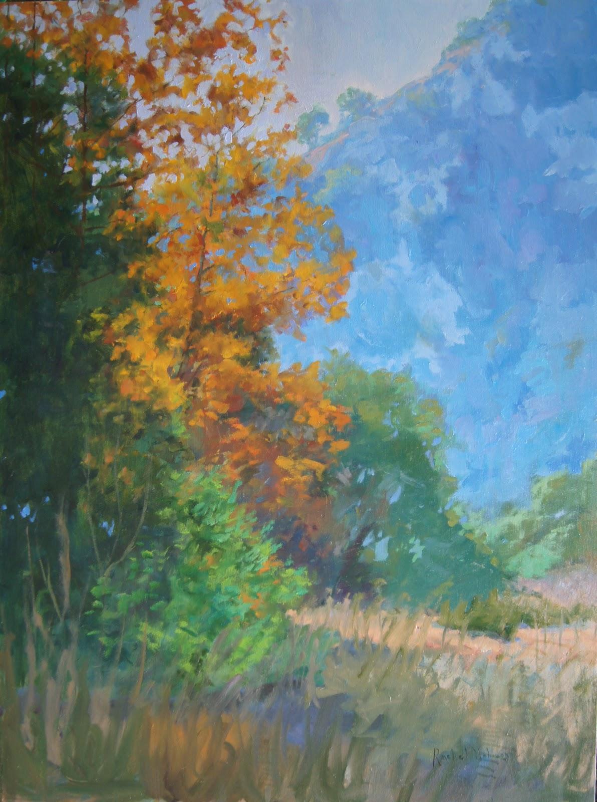 Paintings by Rachel Uchizono: Laguna Canyon Painting by