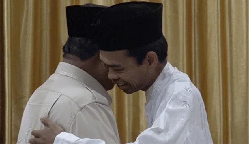 UAS dan Prabowo