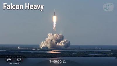 Falcon Heavy لحظة إطلاق الصاروخ