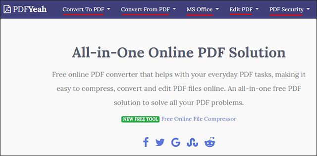 أفضل أداة للتعامل مع ملفات PDF عبر الإنترنت اونلاين بدون برامج Screenshot_1