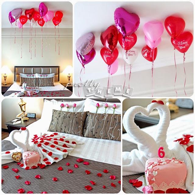 trang trí phòng cô dâu bằng bóng bay