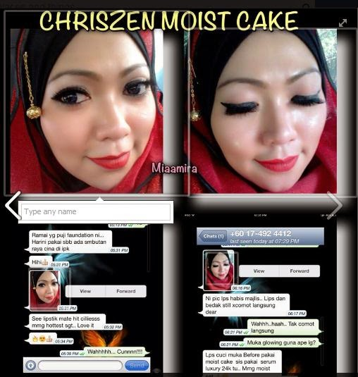 Testimoni Chriszen Moist Cake