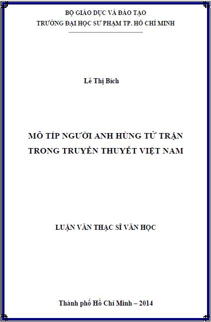 Mô típ người anh hùng tử trận trong truyền thuyết Việt Nam
