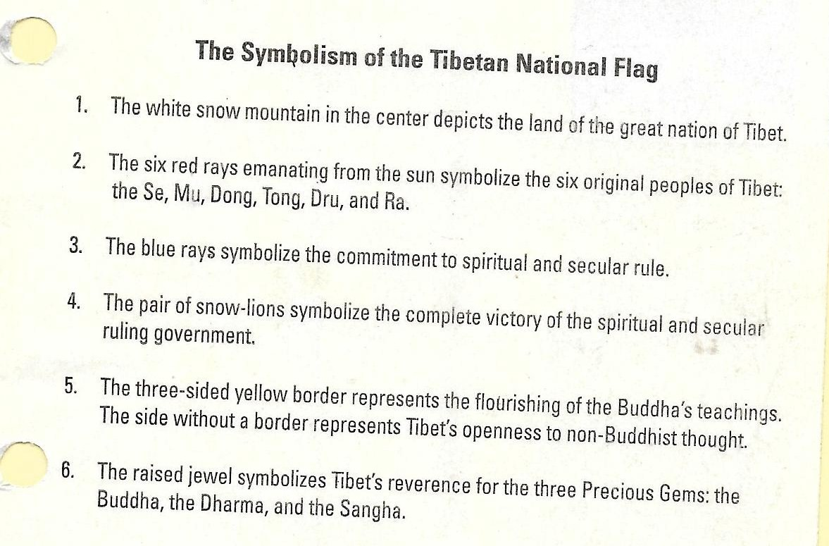 Flags and stamps tibet national flag and its symbolism however we have also a simplified version of the symbolism of the flag biocorpaavc