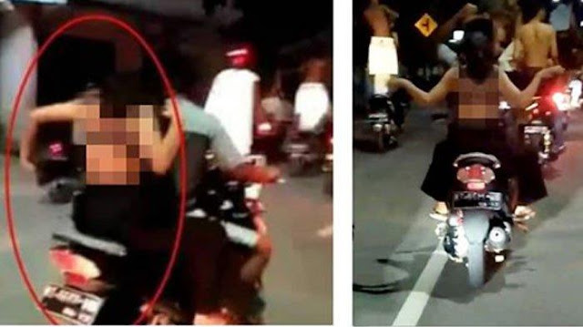 Permintaan Maaf Remaja Berau Usai Nyaris Bugil Konvoi Sahur Dijalan