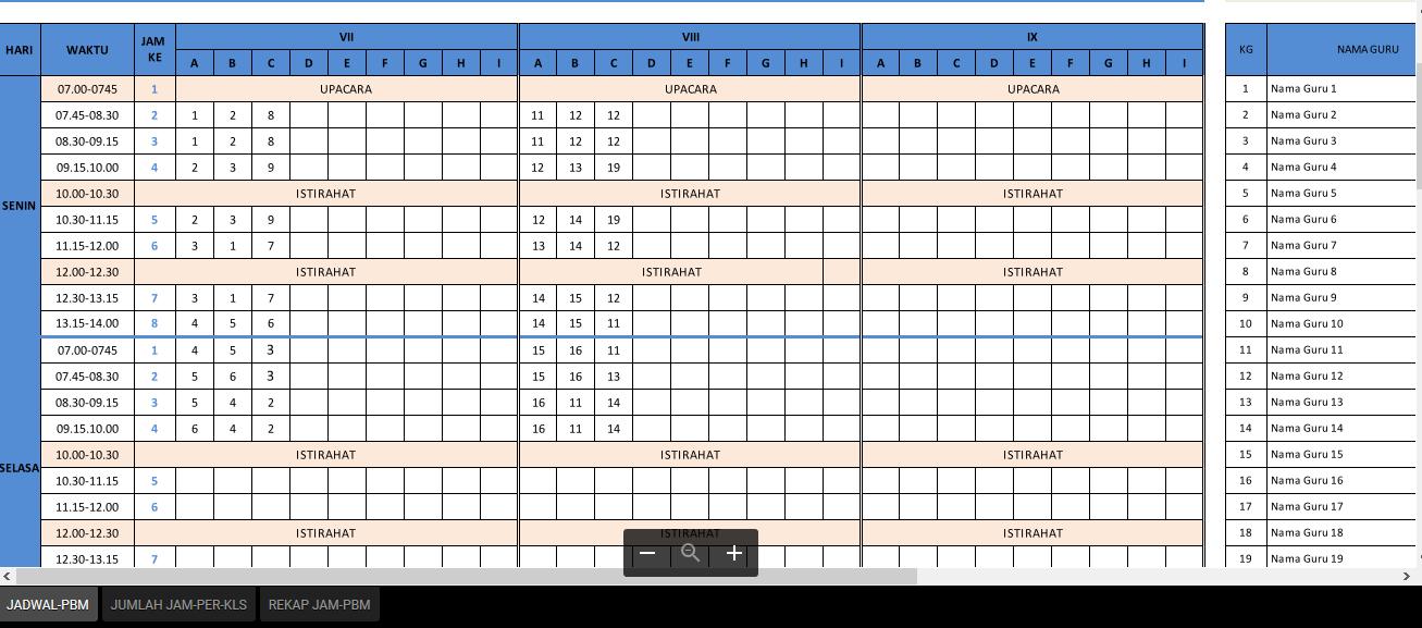 Download Aplikasi Jadwal Pelajaran Anti Bentrok Sd Smp Dan Sma Format Excel Terbaru Tahun Ajar