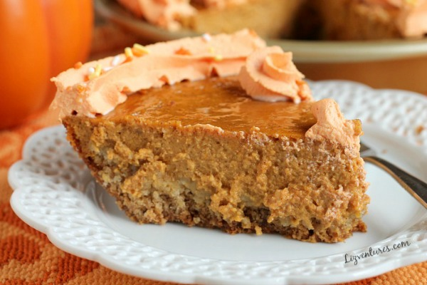 Pumpkin Pie with Brown Sugar Oatmeal Crust from Eat Move Make