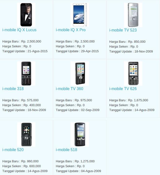 Daftar Harga Terbaru Hp i-Mobile Maret 2016